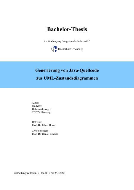 hs offenburg bachelor thesis