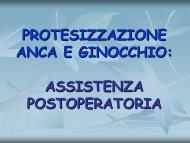 Protesizzazione Anca e Ginocchio - Assistenza Post Operatoria