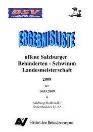 Salzburger LMS Schwimmen - Vereinsmeier