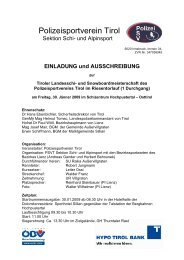 Polizeisportverein Tirol - Vereinsmeier
