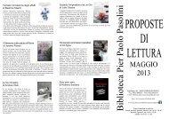 volantino delle proposte di lettura per il mese di maggio 2013