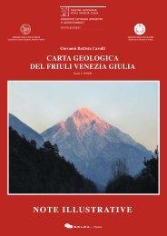 Note illustrative della Carta geologica del Friuli Venezia Giulia alla ...