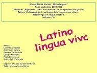 LATINO LINGUA VIVA - Scuola Media Statale MICHELANGELO