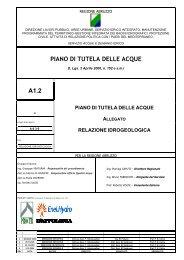 Relazione Idogeologica - Regione Abruzzo