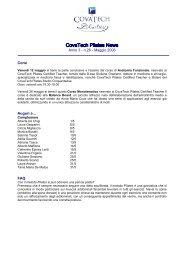 Anno 3 - n.26 - Maggio 2006 Corsi Auguri a… FAQ - Studio Pilates