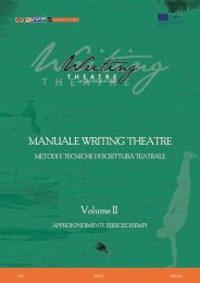 MANUALE WRITING THEATRE Volume II - WRITING THEATRE at ...