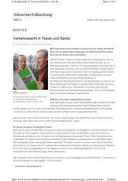 Schweriner Volkszeitung vom 07.12.2007 - Verkehrswacht Tessin ...
