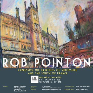 expressive oil paintings of shropshire and the south of ... - Rob Pointon