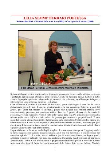 LILIA SLOMP FERRARI poetessa di Trento + ill.pdf - Angelo Siciliano