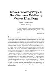 The Non-presence of People in David Hockney's Paintings of ...