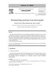 Distinguishing paintings from photographs - CiteSeerX