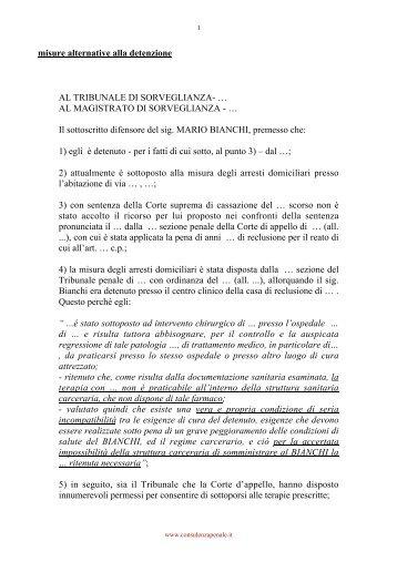 misure alternative alla detenzione AL TRIBUNALE DI ...