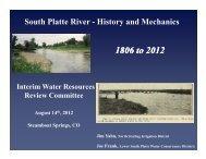 1806 to 2012 - Colorado Water Institute - Colorado State University