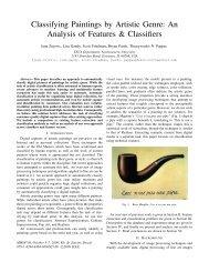 Classifying Paintings by Artistic Genre - Northwestern University ...