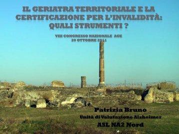 Il geriatra territoriale e la certificazione per l'invalidità : quali strumenti