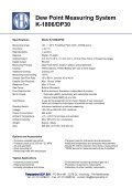 Dew Point Measuring System K-1806/DP30 - TempControl - Page 2