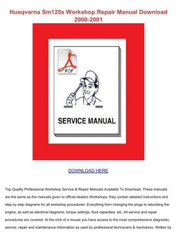 husqvarna wr125 cr125 workshop repair manual download 2006