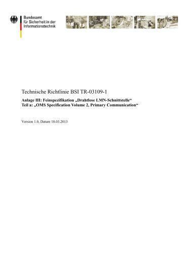 Technische Richtlinie BSI TR-03109-1 - Bundesamt für Sicherheit in ...