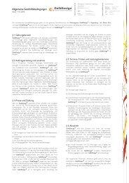 Allgemeine Geschäftsbedingungen (PDF) - Gelbdesign