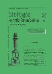 Dinamica stagionale delle comunità algali e analisi ... - CISBA