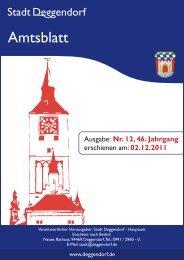 Verantwortlicher Herausgeber: Stadt Deggendorf - Hauptamt