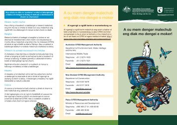 Does your luggage break wildlife laws? - Department of Conservation