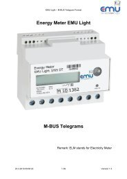 Energy Meter EMU Light M-BUS Telegrams - EMU Elektronik AG