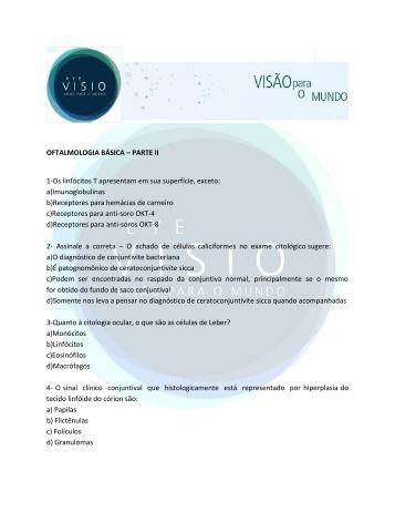 OFTALMOLOGIA BÁSICA – PARTE II 1-Os linfócitos T ... - Eye Visio