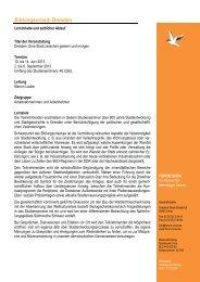geplanter Programmablauf Bildungsurlaub Dresden 2013... - Forum Unna
