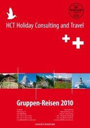 Gruppen-Reisen 2010 - bei HCT