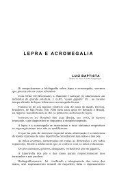 LEPRA E ACROMEGALIA