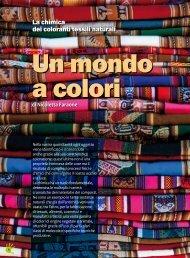 La chimica dei coloranti tessili naturali - Inca - Consorzio ...