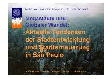 Aktuelle Tendenzen der Stadtentwicklung und Stadterneuerung in ...