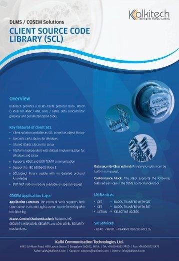 DLMS Client - Kalki Communication Technologies