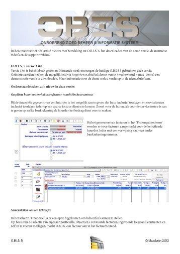 OBIS 5 nieuwsbrief