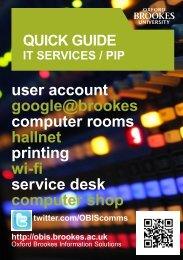 It services / pip - OBIS - Oxford Brookes University