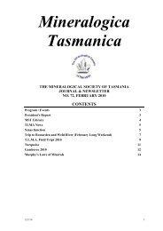 Mineralogica Tasmanica - The Australian Mineral Collector