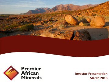 Premier African Minerals One2One Investor Presentation 14th March
