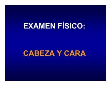 Examen Físico del Cráneo y Cara - Medic.ula.ve