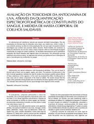 avaliação da toxicidade da antocianina de uva ... - Revista Analytica