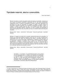 (Criminal) Tipicidade Material, Aborto e Anencefalia - Revista Justitia