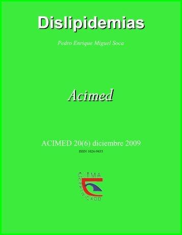 Dislipidemias. ACIMED. 2009; 20(6): 265-273 - evistas.mes.edu.cu