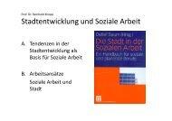 Stadt und Soziale Arbeit mit Sozialraum [PDF, 3 MB] - FH D