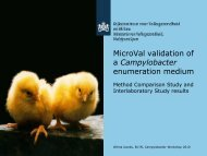 MicroVal validation of a Campylobacter enumeration medium - SVA