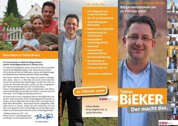 VG Nierstein-Oppenheim Bürgermeisterwahl am 21. Februar 2010!