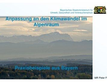 Anpassung an den Klimawandel im bayer. Alpenraum - WASKlim