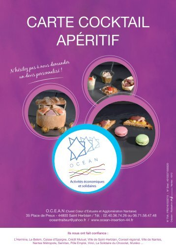 CARTE COCKTAIL APÉRITIF - Océan Insertion 44