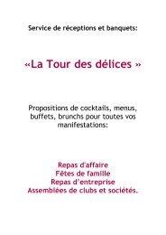 """""""La halte gourmande des Colombettes"""" - Hôtel restaurant de la Tour"""