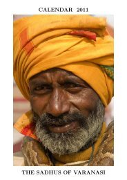 CALENDAR 2011 THE SADHUS OF VARANASI - Alistair J Bray