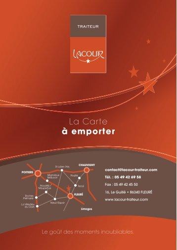 La Carte à emporter - Lacour traiteur